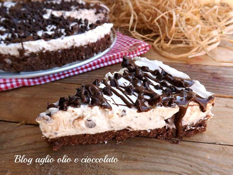 torta fredda yogurt e cioccolato