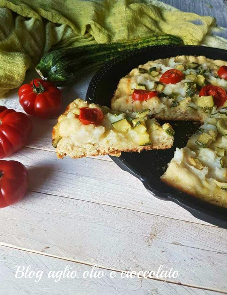 focaccia patate e zucchine in padella