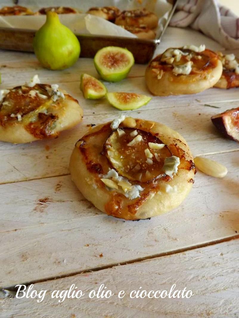 pizzette gorgonzola e fichi