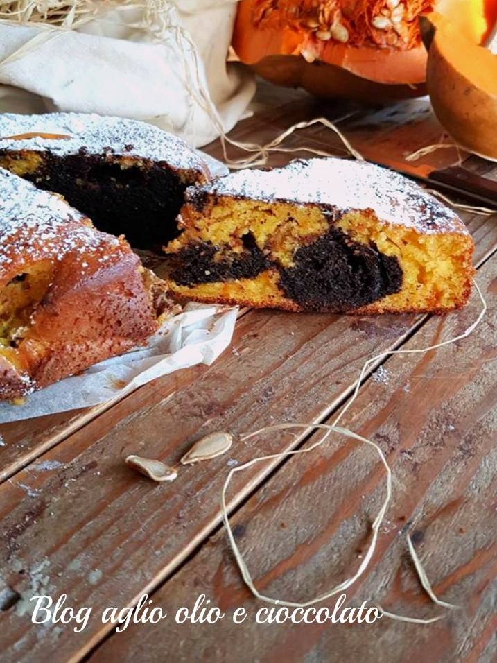 torta zucca cioccolato e mapo