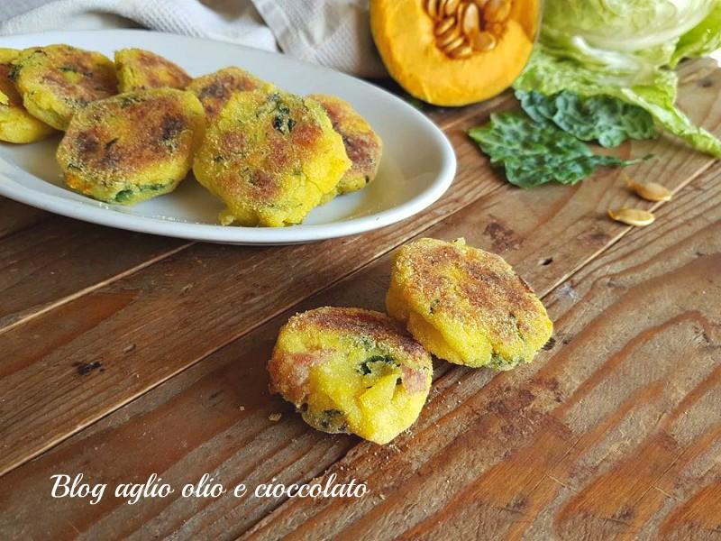 crocchette al forno patate verza e zucca