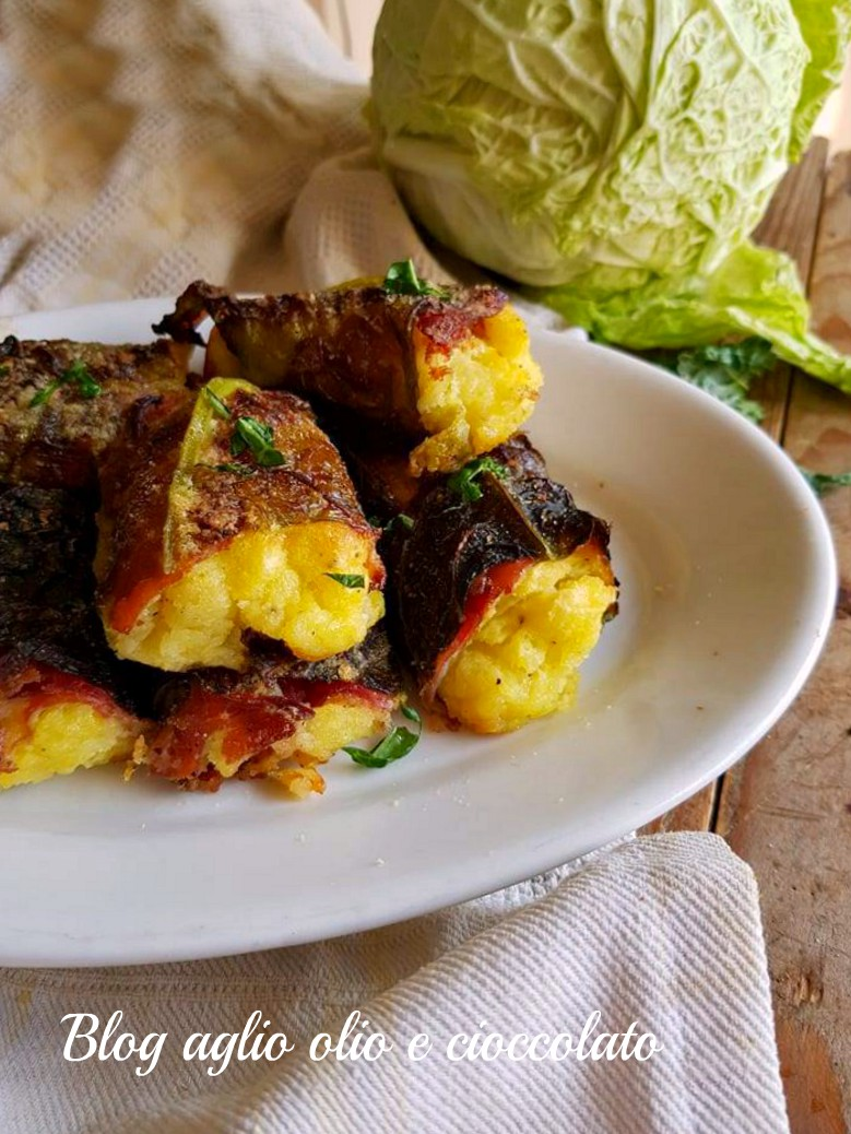 involtini con verza patate e speck