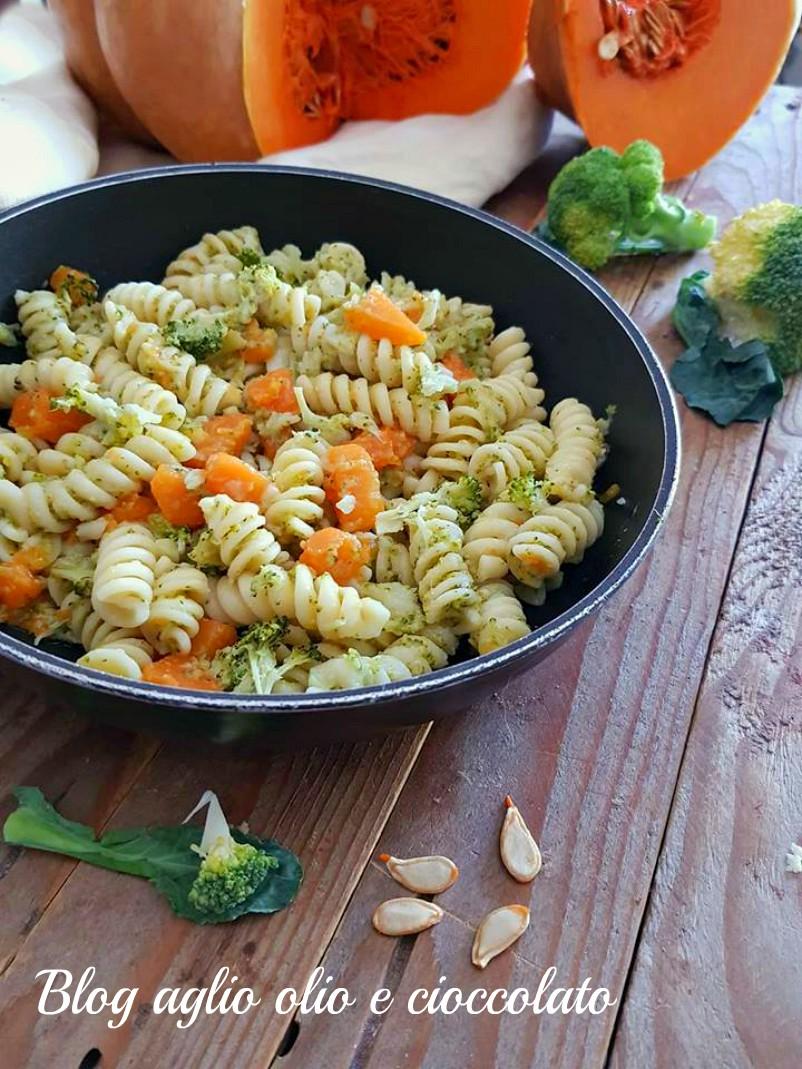 pasta con  broccoletti e zucca