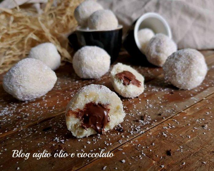 Tartufi al Cocco Cioccolato e Nutella