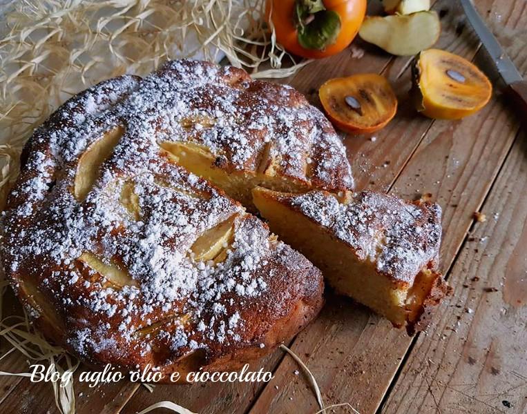 torta con cachi mela e mele