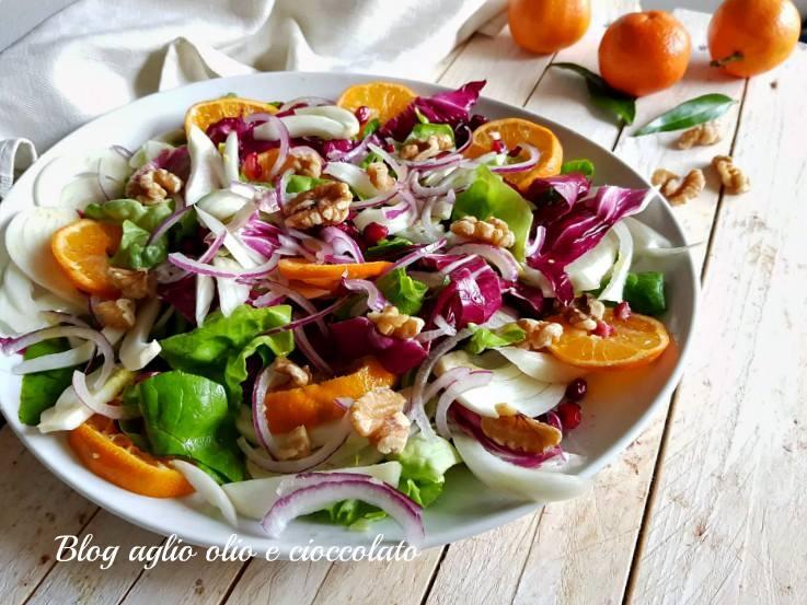 insalata mista con clementine