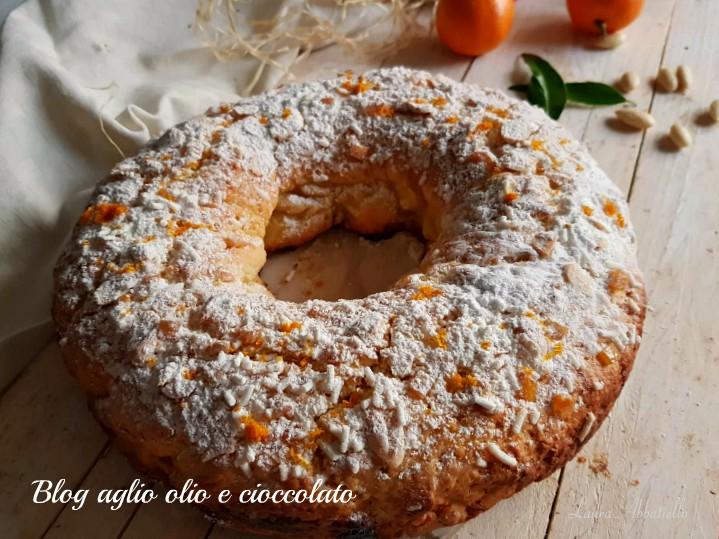 ciambella rustica con clementine e mandorle