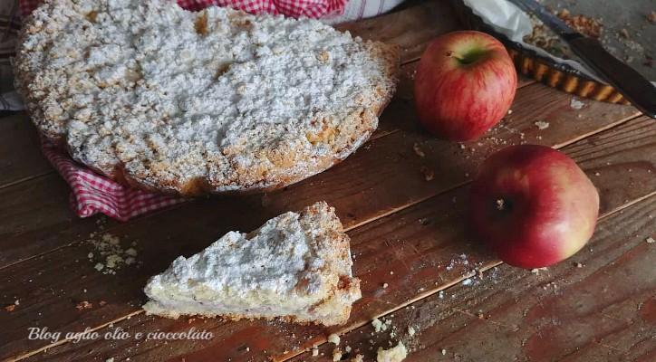 sbriciolata con ricotta e mele