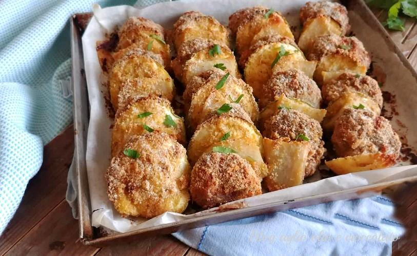 polpette al forno con patate e zucchine
