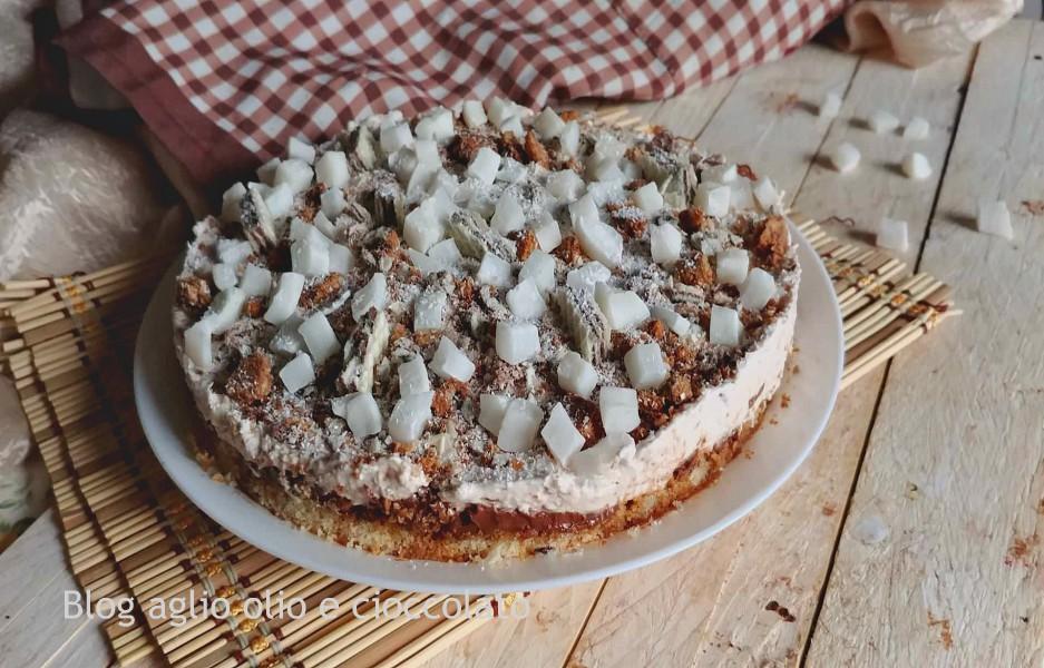 torta cocco e cioccolato senza cottura