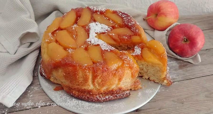 brioche alle mele rovesciata