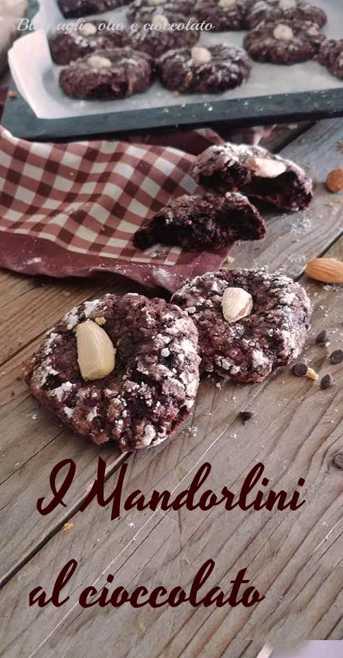 la ricetta dei mandorlini al cioccolato