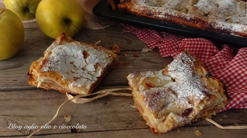 torta di mele sfogliata