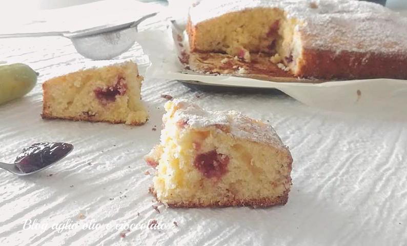 torta agli agrumi e marmellata