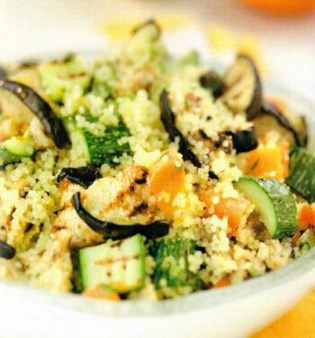 Cous cous agli agrumi e verdure grigliate
