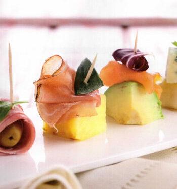 Spiedini salati di frutta