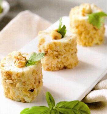 Tronchetti di formaggio alle erbe e nocciole