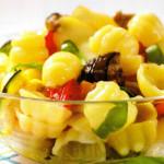 conchiglie fredde verdure grigliate scamorza affumicata