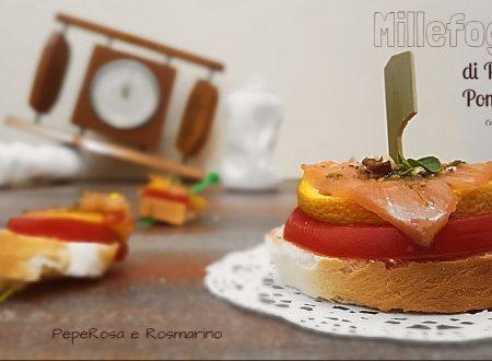 Pane e Pomodoro con Salmone e Arancia in Millefoglie