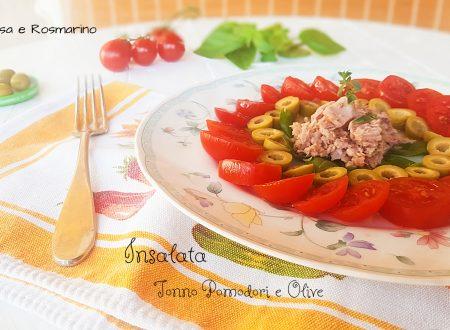 Insalata tonno pomodori e olive