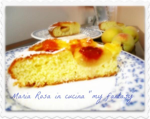 torta alle pesche