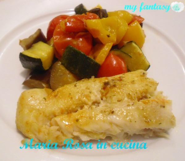 Pesce Persico Al Forno Maria Rosa In Cucina