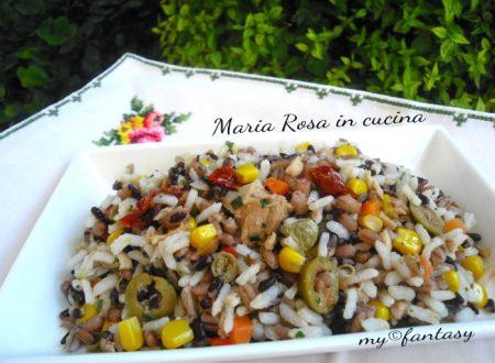 INSALATA DI RISO – MIX DUE RISI, ricetta mediterranea