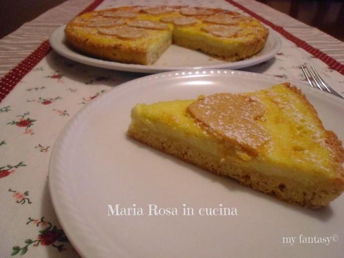 crostata dolce alla crema di ricotta al gusto di limone