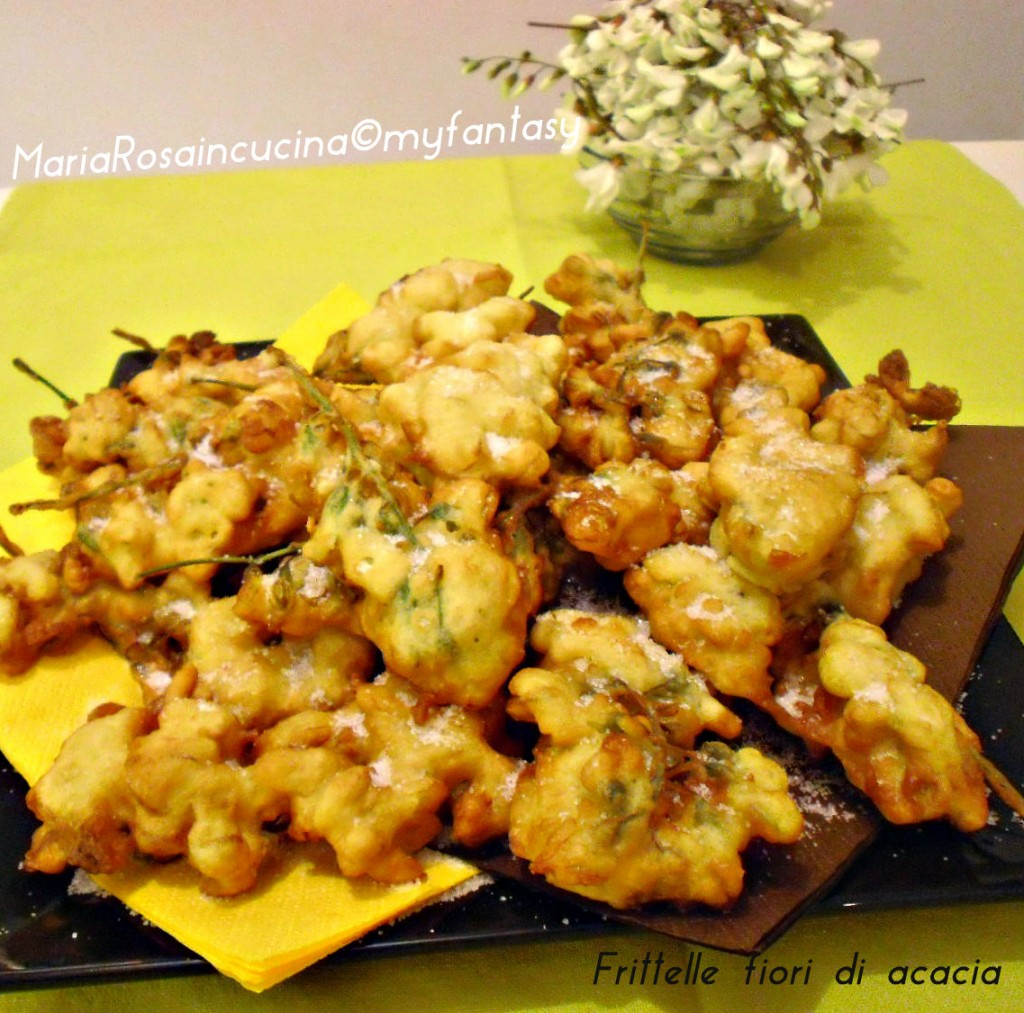 frittelle con fiori di acacia