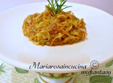CAVOLO CAPPUCCIO BIANCO ricetta con aceto balsamico