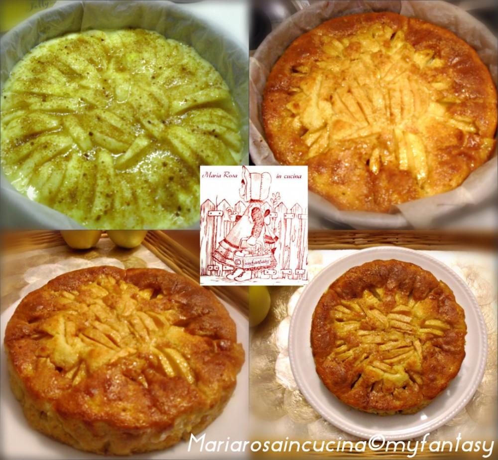 torta di mele - collage