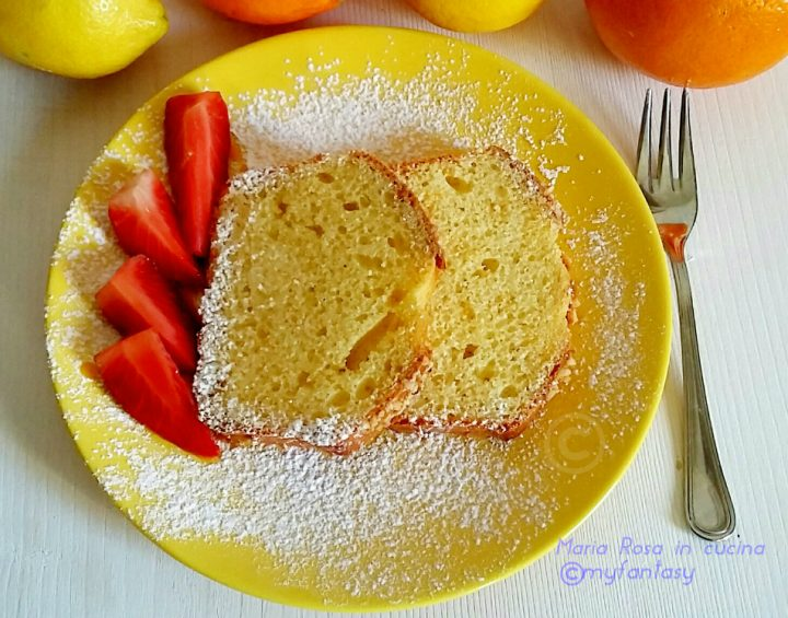plum cake dolce all'arancia e limone