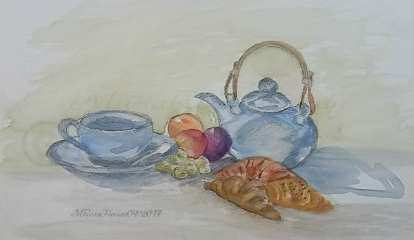 Breakfast, my watercolor