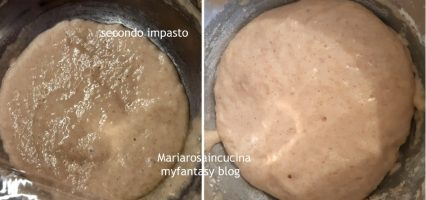 seconda fase dell'impasto