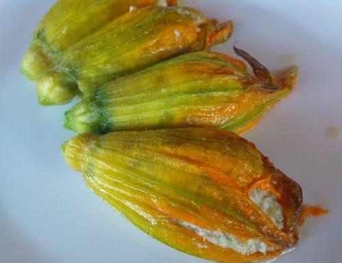 Fiori di zucchine al forno