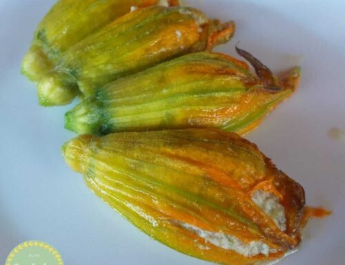 Fiori di zucchine ripieni