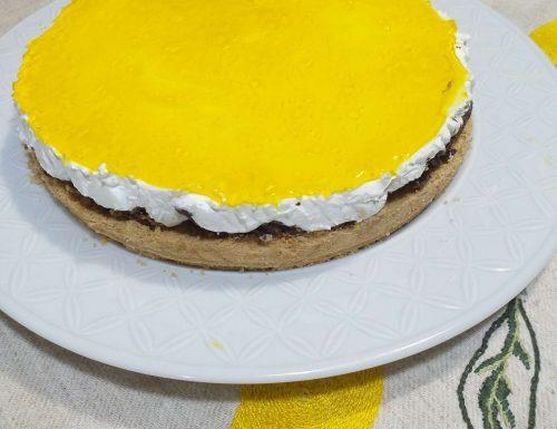 Torta fredda croccante allo yogurt