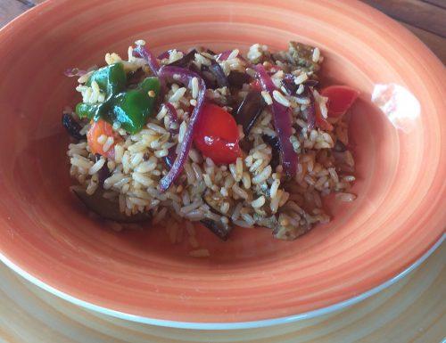 Insalata di riso integrale all 'ortolana
