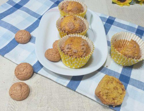 Muffin di zucca e amaretti