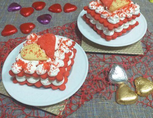 Mini cream tart di San Valentino