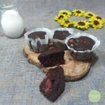 muffin cacao e fragole