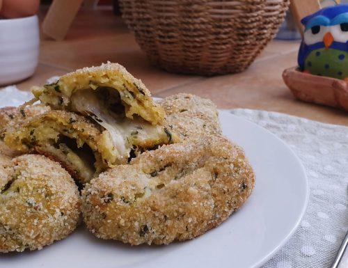Crocchette di zucchine e mozzarella filante