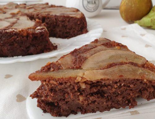 Torta di mandorle pere e cioccolato