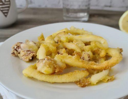 Seppie fritte al forno