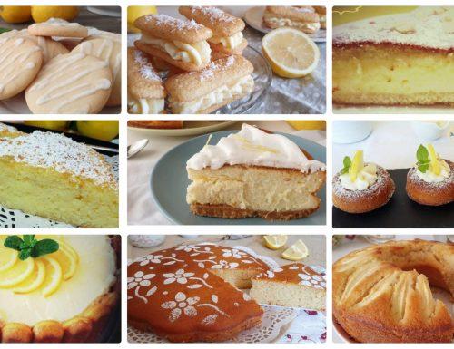 Raccolta di ricette di dolci con il limone