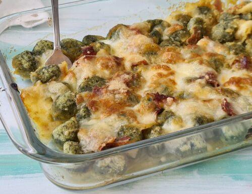 Gnocchi di spinaci gratinati al forno