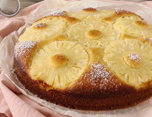 Torta soffice ananas e cocco