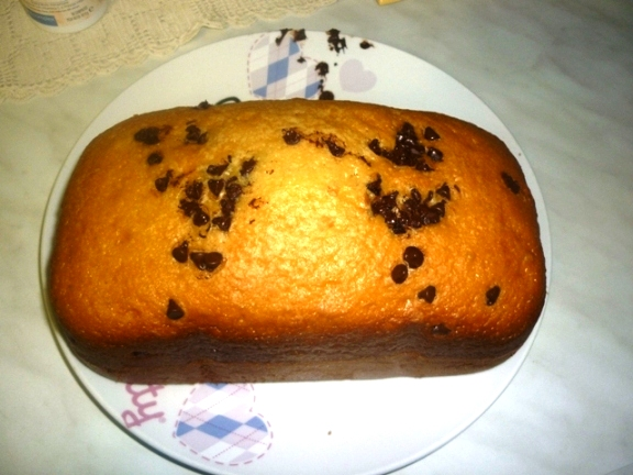 Plum Cake Con Gocce Di Cioccolato Con La Macchina Del Pane