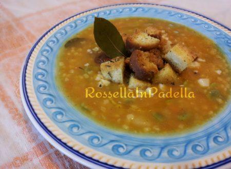 Zuppa felice con zucca e fave