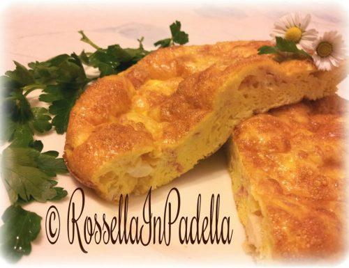 Frittata morbida al forno prosciutto e mozzarella